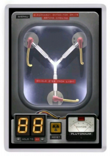 Flux Capacitor Fridge Magnet. Inspired by Back to the Future